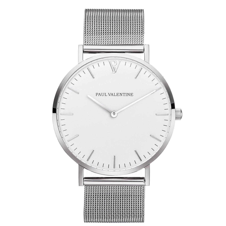 Paul Valentine Armbanduhr | Marina Silber Mesh | Damen Uhr mit elegantem & zeitlosen Design und feinstem Edelstahl