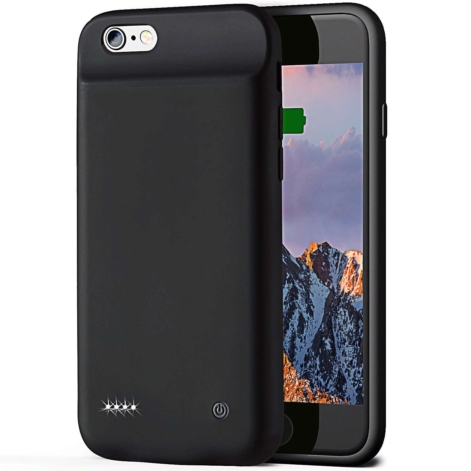 [UPGRADED] iPhone 6 6s Battery Case,Comzor Battery Case with Great Touch Portable Charging Case 3000mAh Protective Charger Case for Apple iPhone 8 7 6s 6 (4.7 Inch)[Black]