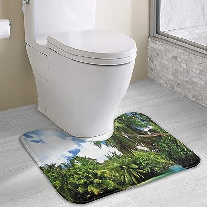 Amazon Com Jungle Duvet Toilet Carpet Mahe Island Seychelles Lake