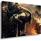 Dark Souls Game Leinwandbild / LaraArt Bilder / Leinwand Bild + Mehrfarbig + Kunstdruck XXL g03-5 Wandbild 100 x 70 cm