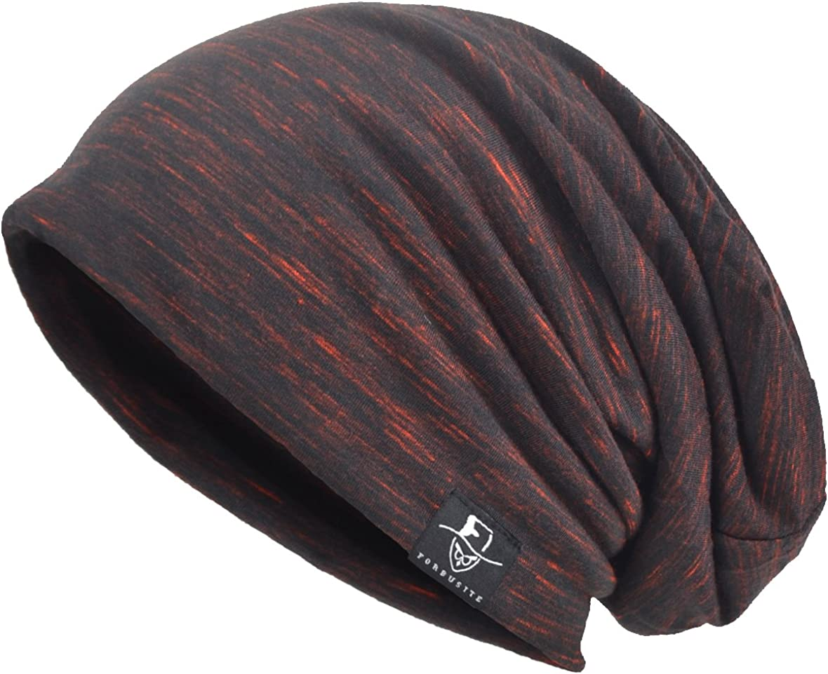 VECRY Men Slouch Hollow Beanie Thin Summer Cap Skullcap