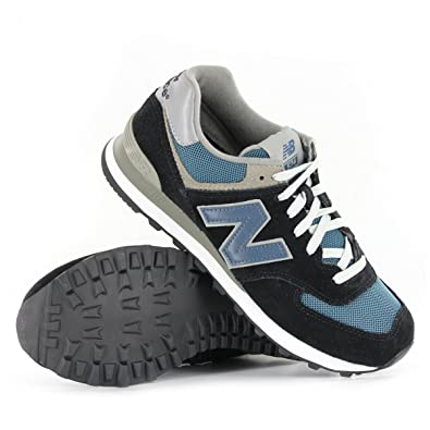 New Balance Classic Traditionnels M574 Black Blue Mens Trainers Size 8.5 UK