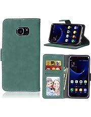 BONROY Case,Samsung Galaxy S7 Edge Flip Leather Case, Shockproof Bumper Cover and Premium Wallet Case for Samsung Galaxy S7 Edge
