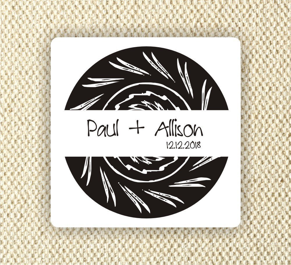 Amazon com 20 2x2 square stickers personalized wedding stickers bridal shower labels anniversary party handmade