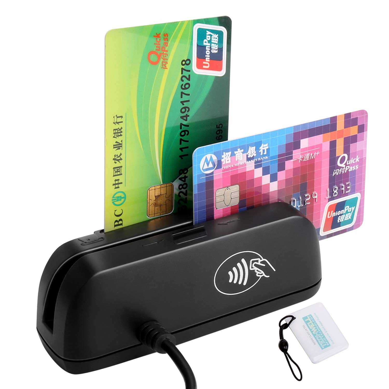 3 in 1 Combo SZTW150 Magnetic Card Reader + EMV Chip/RFID NFC Reader Writer Only for APDU Command Professional Person