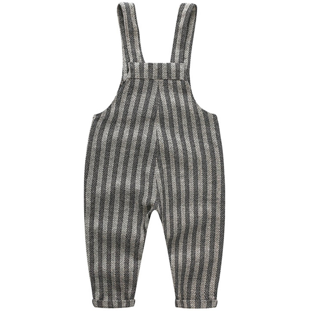 Beb/é Pantalones de Peto Pantalones de punto Ni/ños Ni/ñas Overalls A rayas Pantalones Largo Ajustable 9-12 Meses