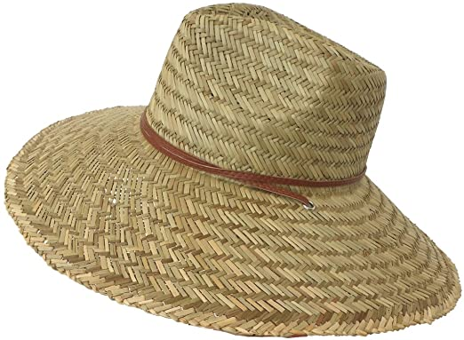 a250789580cb28 Super Wide Brim Lifeguard Hat Lindu Straw (Medium) at Amazon Men's ...
