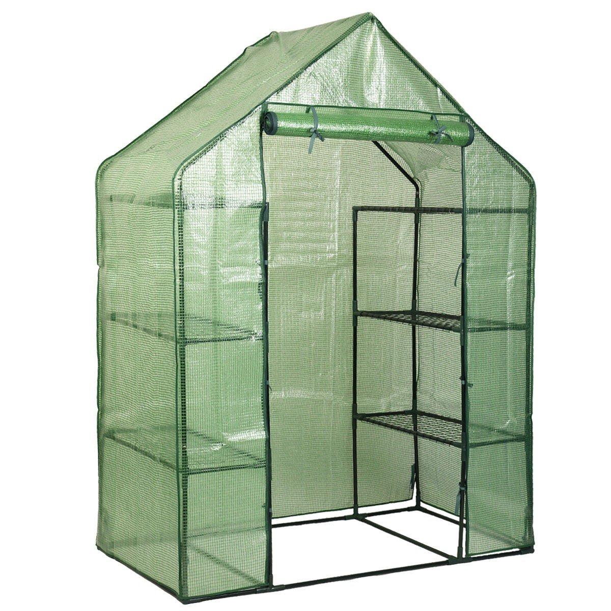 MRT SUPPLY Portable Mini Outdoor Walk-in 8 Shelves Greenhouse Ebook