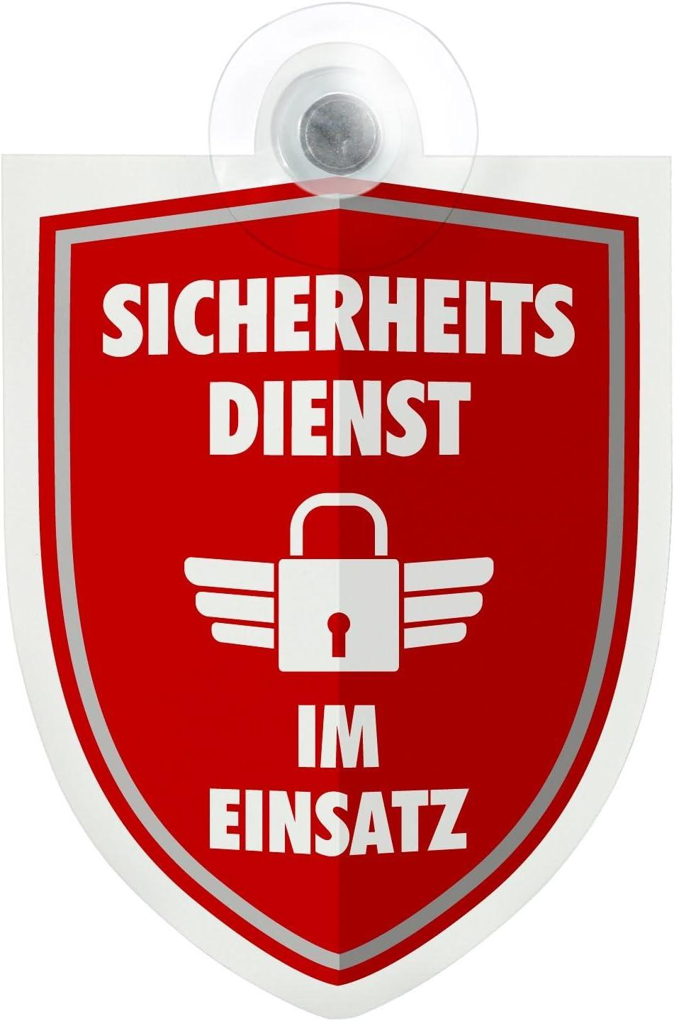 Schild Autoschild Security Sicherheitsdienst Im Einsatz Dienst Mit Saugnapf 1 1mm Wetterfestes Material 100 X 120 Mm Groß Baumarkt