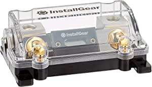 InstallGear 0/2/4 Gauge AWG in-Line ANL Fuse Holder with 100 Amp Fuse