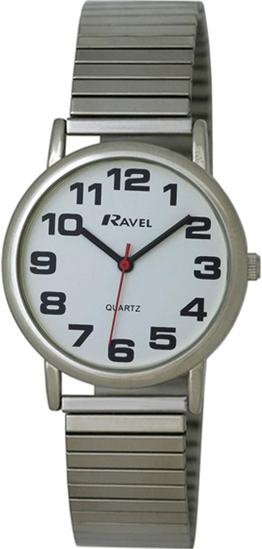 Ravel R0208.02.1S - Reloj de Cuarzo para Hombre, Correa de Acero Inoxidable Color Plateado