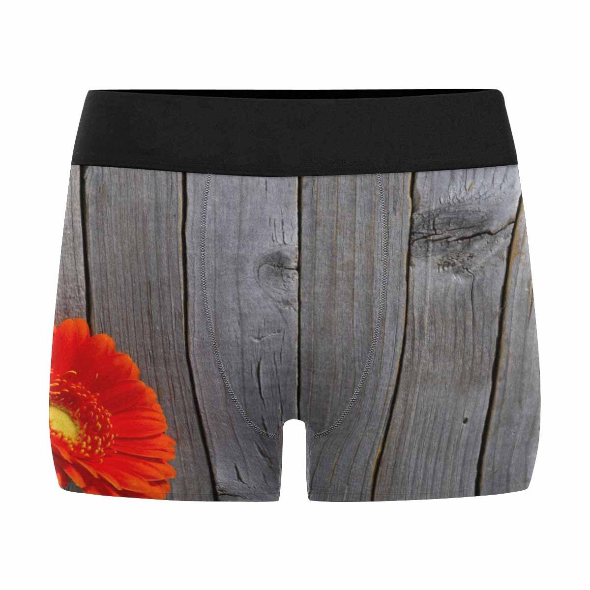 XS-3XL INTERESTPRINT Mens Boxer Briefs Underwear Floral Background