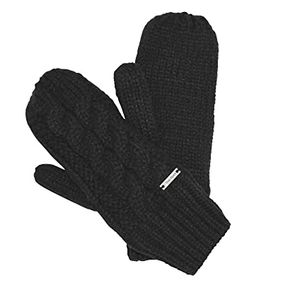 TrailHeads Women's Cable Knit Mittens with Fleece Lining
