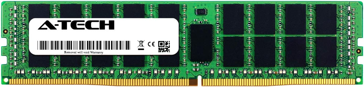 A-Tech 16GB Kit Server Specific Memory Ram 2 x 8GB AT316640SRV-X2R9 for Dell PowerEdge R630 DDR4 PC4-21300 2666Mhz ECC Registered RDIMM 2Rx8