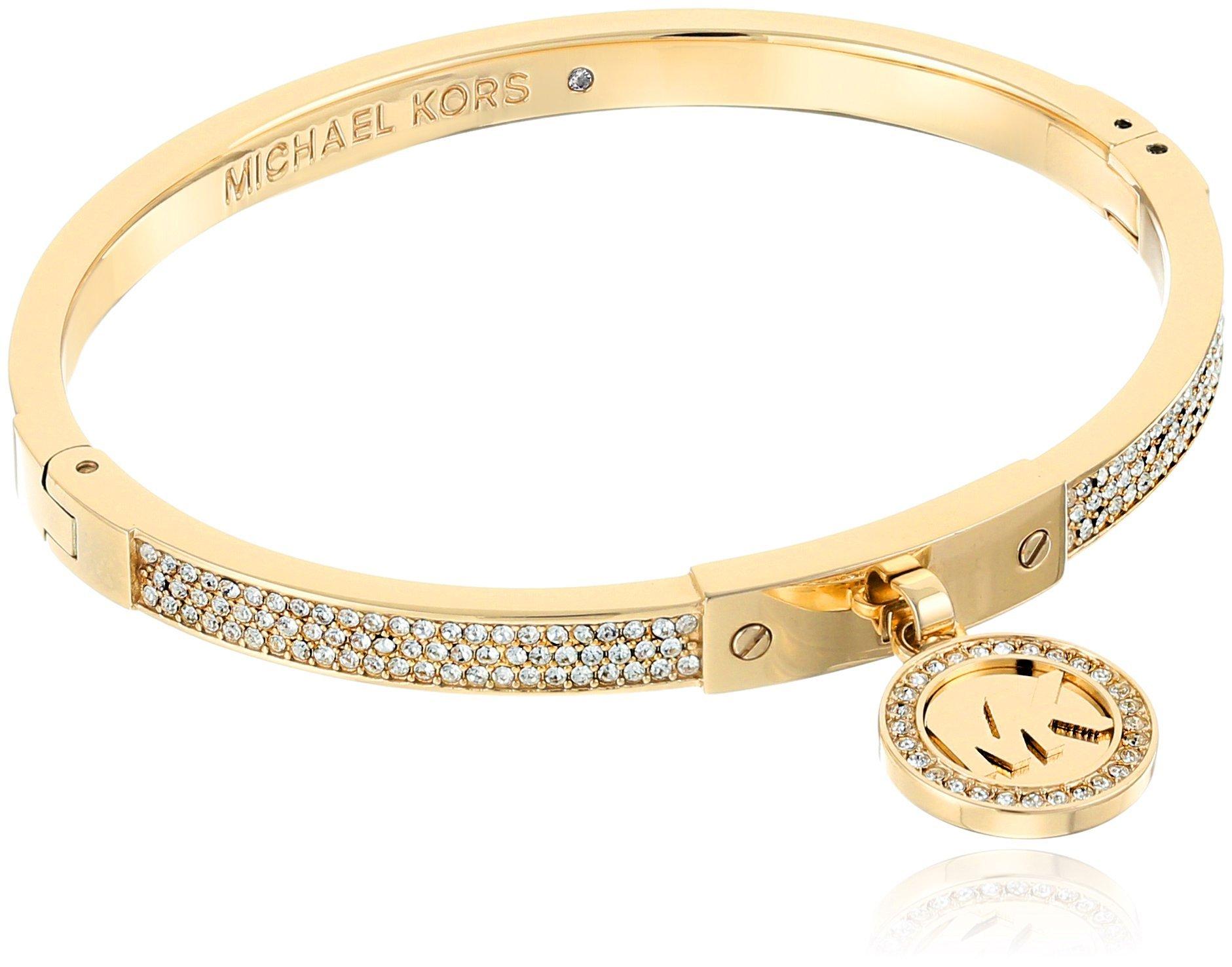Michael Kors Gold Tone Fulton Hinge Bangle Bracelet by Michael Kors