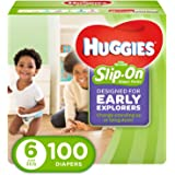 HUGGIES Little Movers Slip On Diaper Pants, Size 6, 100 Count, ECONOMY PLUS (Packaging May Vary)