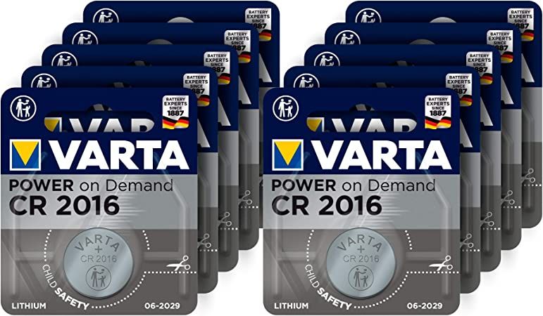 Varta Power On Demand Cr2016 Lithium Knopfzellen 3v Elektronik