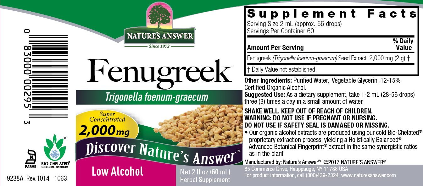 Natures Answer Fenugreek Seed Organic Alcohol 2 oz by Nature's Answer (Image #1)