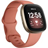 Fitbit Versa 3 Health & Fitness Smartwatch with GPS, 24/7 Heart Rate, Alexa Built-in, 6+ Days Battery, Pink/Gold, One…