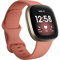 Fitbit Versa 3 Advanced Fitness Watch with Built-in GPS, Personalised Heart Rate Zones, Voice Control & Speaker for…