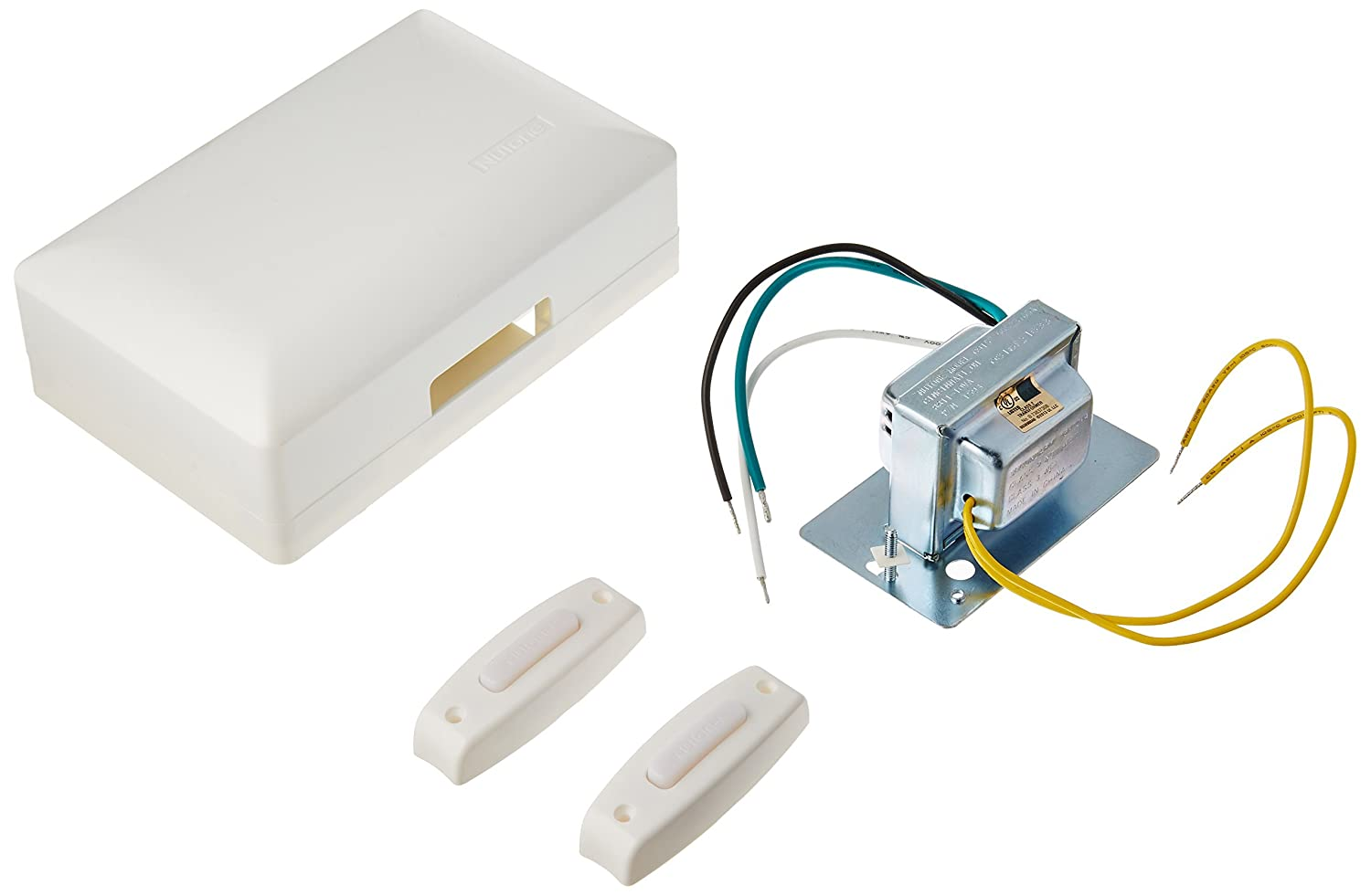 Broan BK142LWH Builder Kit Chime with Two-Lighted Pushbuttons and Junction Box Transformer White