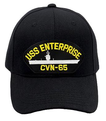 9907695c0d4 Image Unavailable. Image not available for. Color  Patchtown USS Enterprise  CVN-65 Hat Ballcap (Black) ...