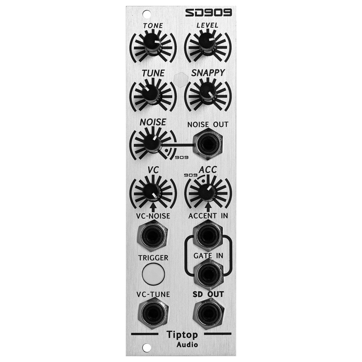 Tiptop SD909 Modular TR909 Snare and Noise Generator Eurorack Synth Module by Tiptop Audio