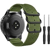 MoKo Pasek kompatybilny z Garmin Fenix 6/6 Pro/Fenix 5/5 Plus/Forerunner 935 Smartwatch, precyzyjnie tkany nylonowy…