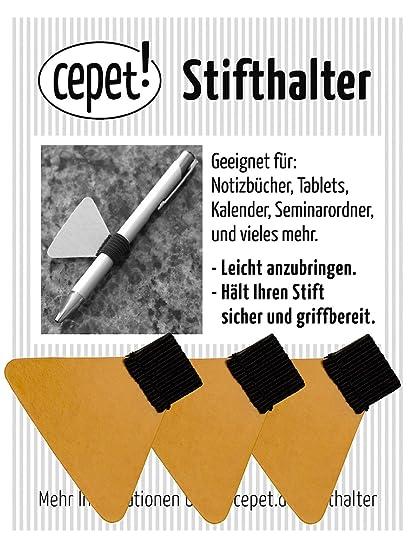 Planer Ipad,Klemmbretter etc 10 Stiftschlaufe selbstklebend Stifthalter mit Elastische Gummiband aus Kunstleder f/ür Notebook Kalender
