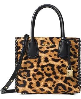 1d3449ed584a Michael Kors Mercer Leopard Print Leather Crossbody 30F7GM9M2H226