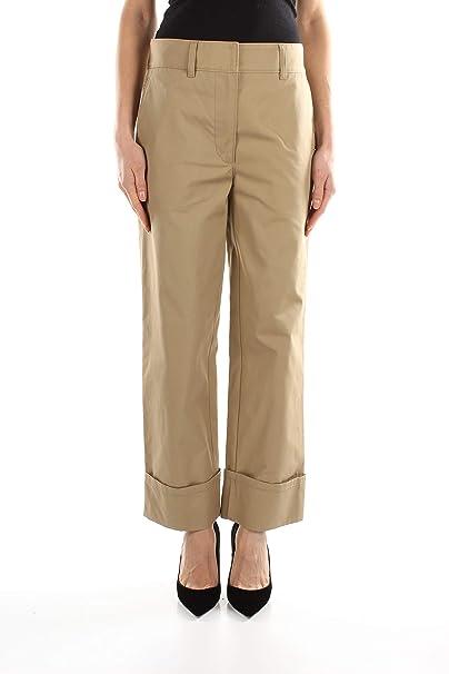 super popular 10e44 2e767 Prada Pantaloni Donna - Cotone (P236BPOPELINEDIVISA): Amazon ...