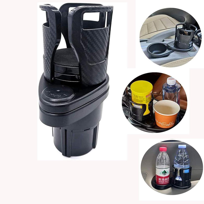 2-in-1 multifunctional car cup holder extender, adjustable size car beverage cup holder water cup holder, 360°rotating and adjustable base, can hold 17oz-20oz coffee cups, KFC beverage bottles, etc.