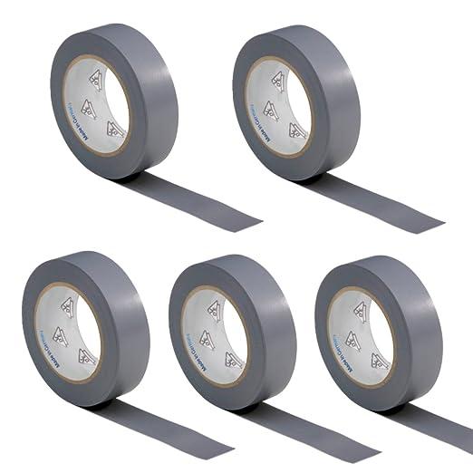 2 opinioni per 5 rotoli VDE Nastro Isolante Elettrico PVC Nastro Adesivo 15mm x 10m DIN EN