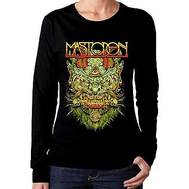 3beb1ff40 Amazon.com: Women's Mastodon Classic Music Band Long Sleeves T Shirt ...