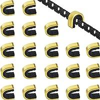 Gejoy 20 Piezas Puntos de Encocar Puntos de Encoque de Cadena de Tiro al Arco Clip de Hebilla de Cuerda de Arco para…