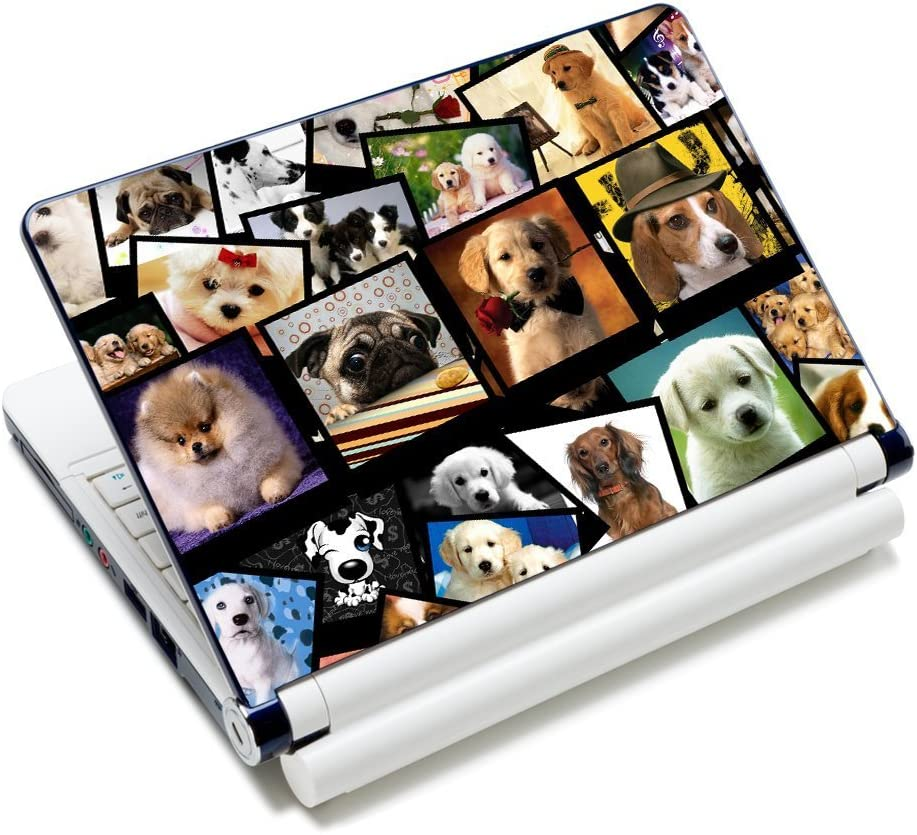 "Laptop Skin Sticker Decal,12"" 13"" 13.3"" 14"" 15"" 15.4"" 15.6 inch Laptop Skin Sticker Cover Art Decal Protector Notebook PC (Dogs)"