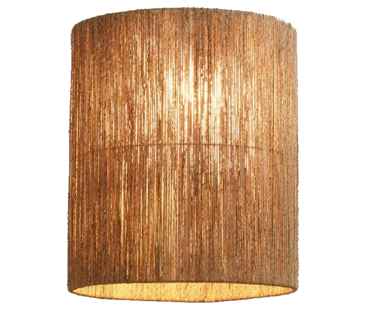 Floor Lamp Drum Shade Tall Handwoven Jute - for Home Lighting and Decor - 14''Dia x 18''H in Brown