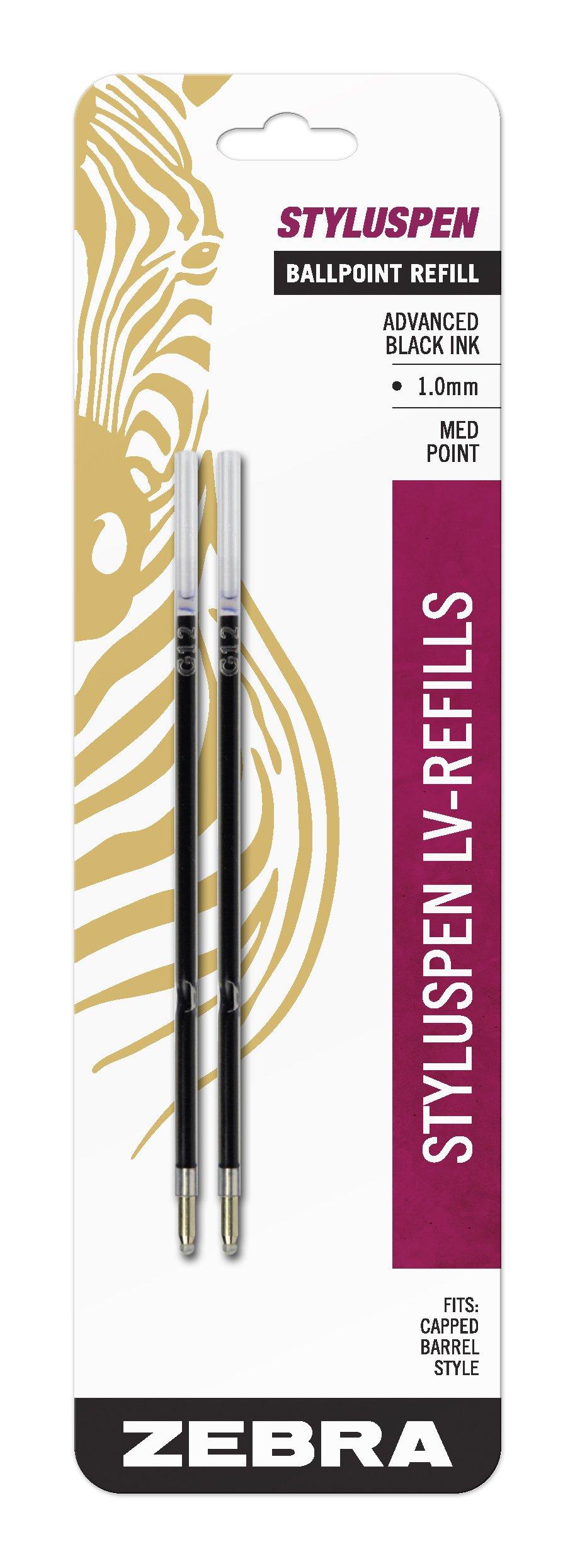 2 Repuestos de lapiceras 1.0mm tinta negra Marca Zebr ()