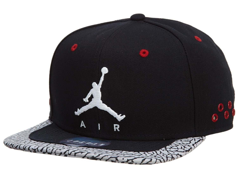 9644a8de889 ... get nike cap air jordan jumpman strapback black white red osfa amazon  sports outdoors 94534 fdb44