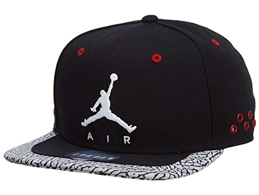 Jordan Nike Jumpman Aire Strapback Gorro Ajustable Negro Gimnasio Rojo Blanco   Amazon.es  Deportes y aire libre 1b17f12fdfc