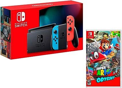 Nintendo Switch 32gb Azul/Rojo Neón + Super Mario Odyssey: Amazon.es: Videojuegos