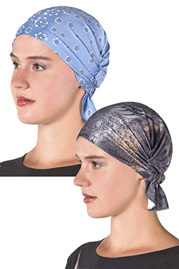 00f2acac5 Chemo Cap Women's Head Wrap, Hat, Scarf for Cancer Patients, Hair Loss,  Trichotillomania in Assorted Prints