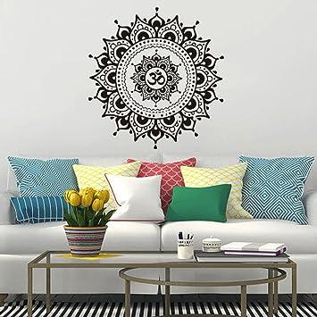 Wohnzimmer Wandaufkleber Aufkleber Kunst Mural Home Mandala Blume ...