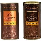Godiva Hot Cocoa 2 Pack Set (1 Milk Chocolate and 1 Dark Chocolate) 27.6 oz.
