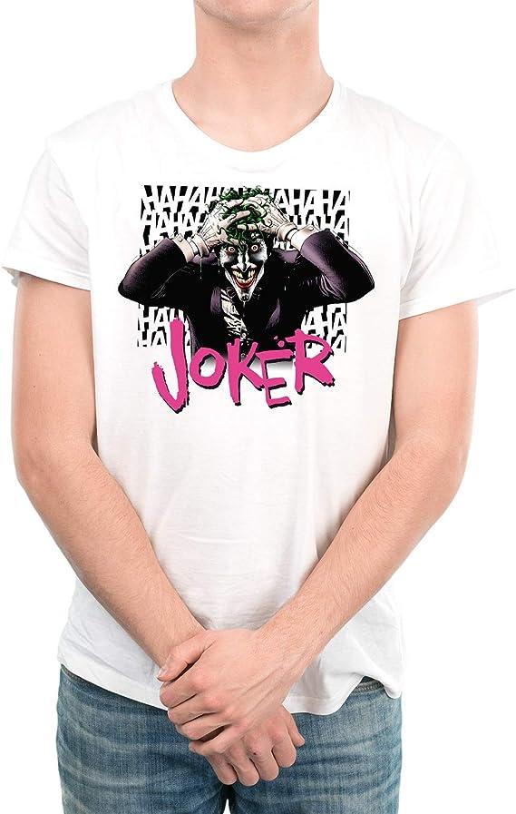 DibuNaif Camiseta Hombre - Unisex Superhéroes y Villanos, Joker: Amazon.es: Ropa y accesorios