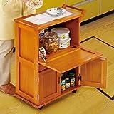 キッチンワゴン キャスター付き 木製 収納 便利ワゴン