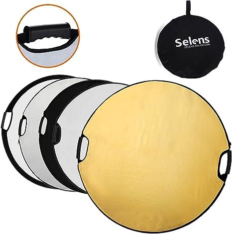 Selens 80CM 5 en 1 Reflector de Luz Redondo Plegable Portátil con ...