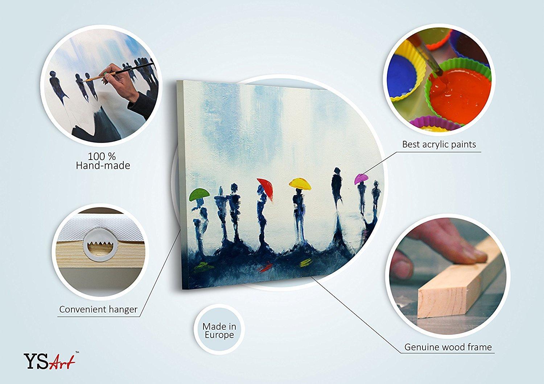 100% LABOR A MANO + certificado / Ciudad nocturna / 115x50 cm / El cuadro dibujado con pinturas acrílicas / cuadros sobre el lienzo con bastidor de madera ...