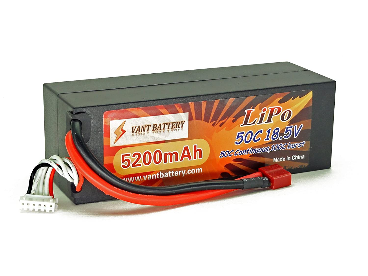 18.5V 5200mAh 5S Cell 50C-100C HardCase LiPo Battery Pack w/ Deans Ultra Plug Style Connector Vant Battery