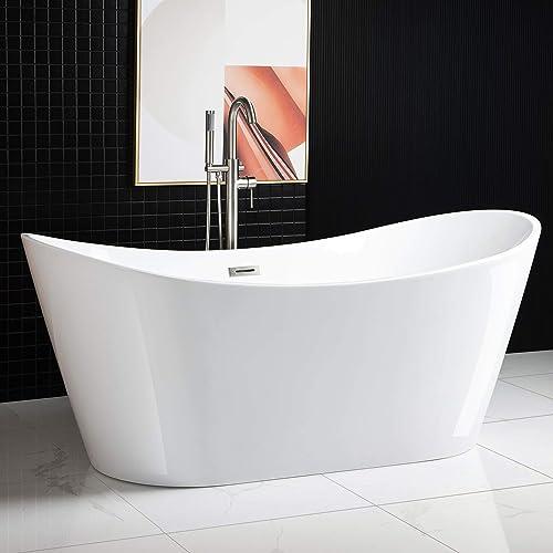 WOODBRIDGE BTA1517 Freestanding Bathtub Contemporary Soaking Tub